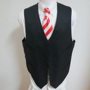 Sz 48L Charcoal Gray Mens 100% Wool #21H Suit Vest